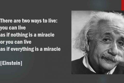 Einstein on Miracles