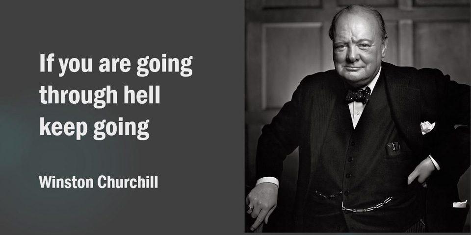 Churchill. Through Hell.