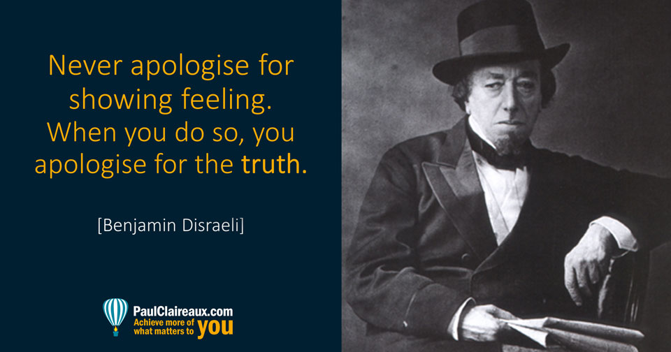 Disraeli. Never Apologise