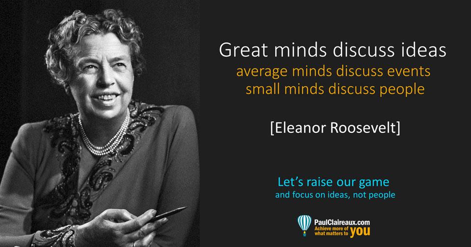 Eleanor Roosevelt. Great Minds