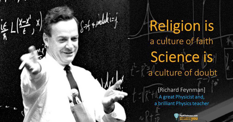 Feynman. Religion v Science