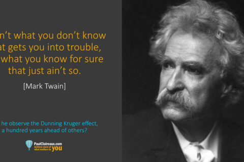 Twain. What you know for sure