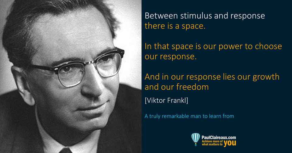 Frankl. Stimulus and Response. Paul Claireaux