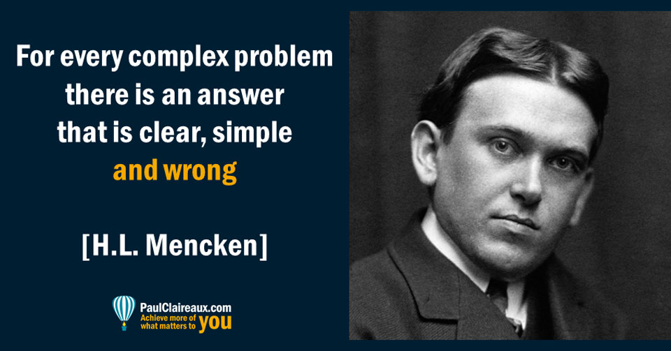 Clear, Simple and Wrong. Mencken