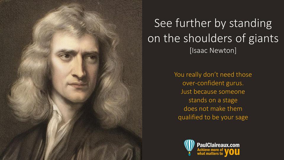 Newton, not gurus
