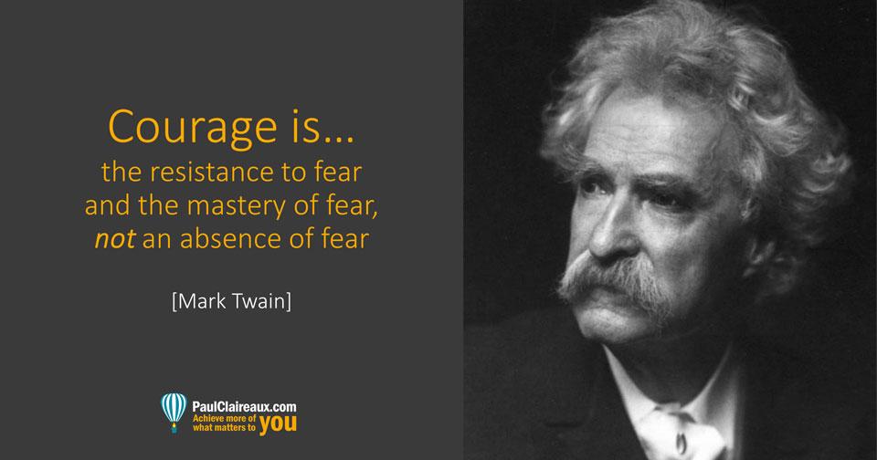 Mark Twain on Courage. Paul Claireaux