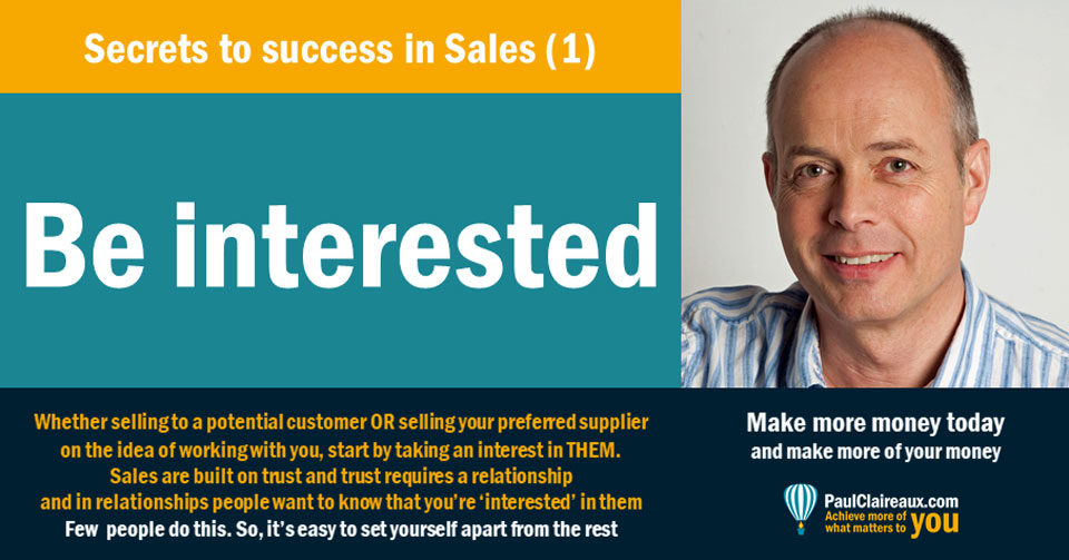 Success in sales Paul Claireaux