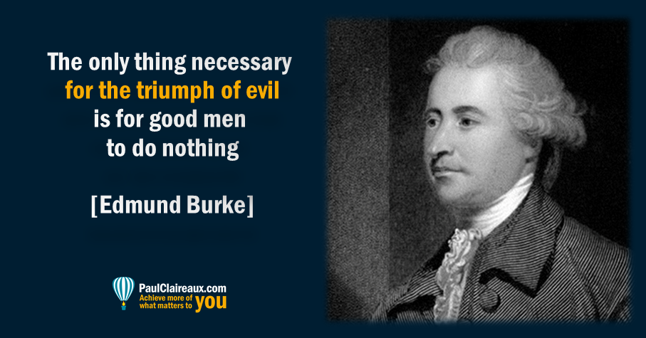 Triumph of evil. Edmund Burke