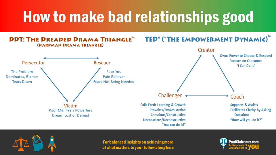 How to make bad relationships good