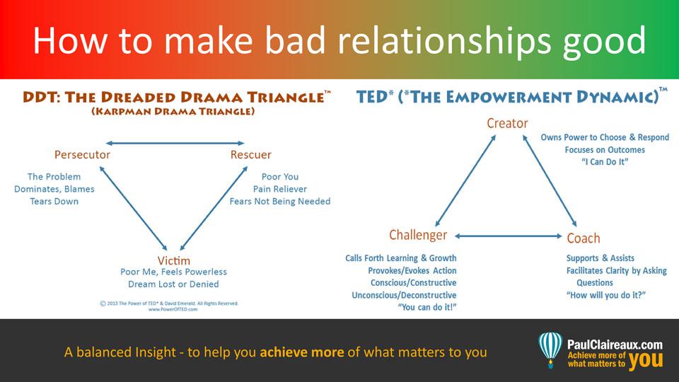 Make bad relationships good