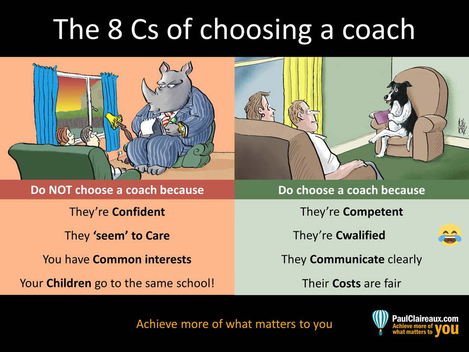 8 Cs of how to choose a coach