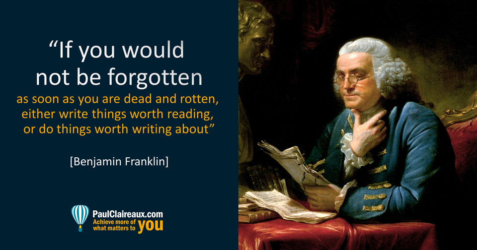 Franklin not be forgotten when you're dead and rotten