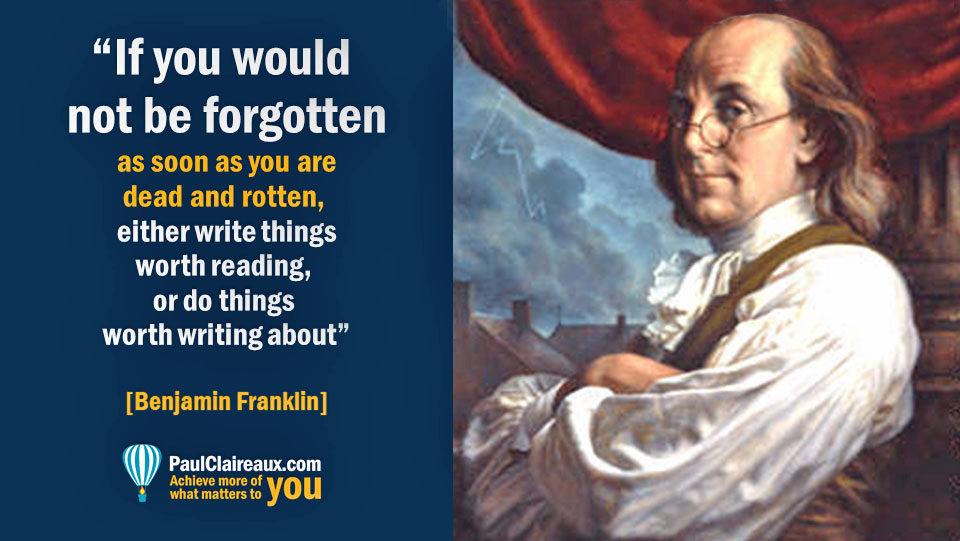 Franklin. Not be forgotten.