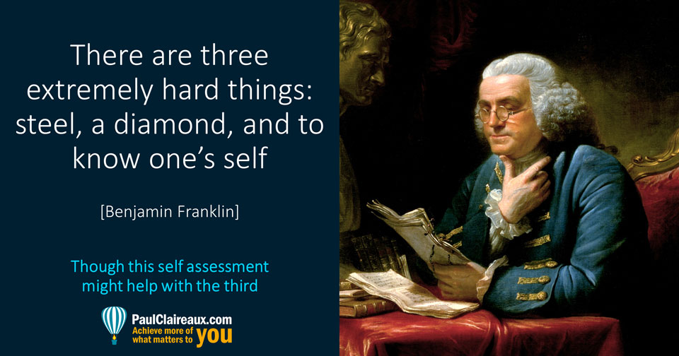 Franklin. Three hard things. Paul Claireaux