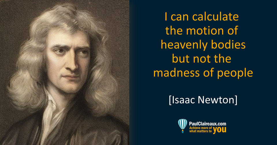 Newton. The madness of people
