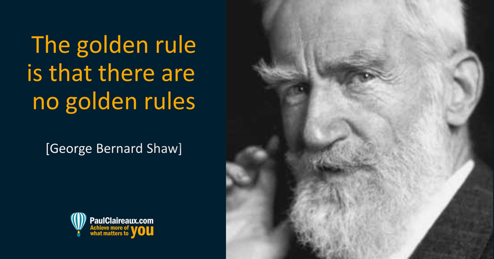 The golden rule. Shaw