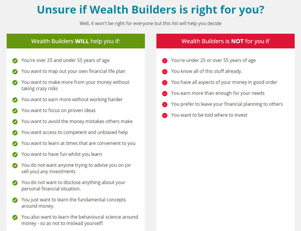 unsure if wealth builders is right for you