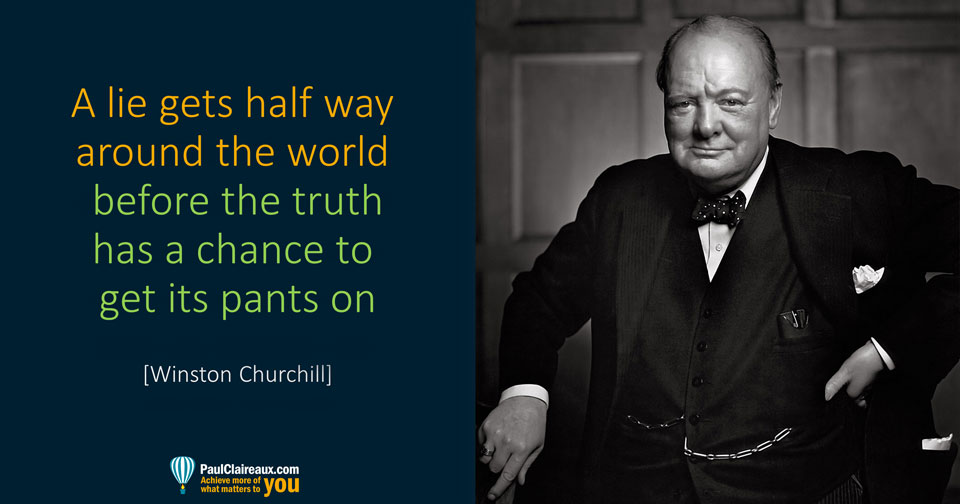 Churchill. Lies and Truth
