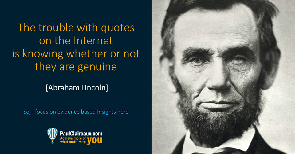 Lincoln. Quotes on the internet