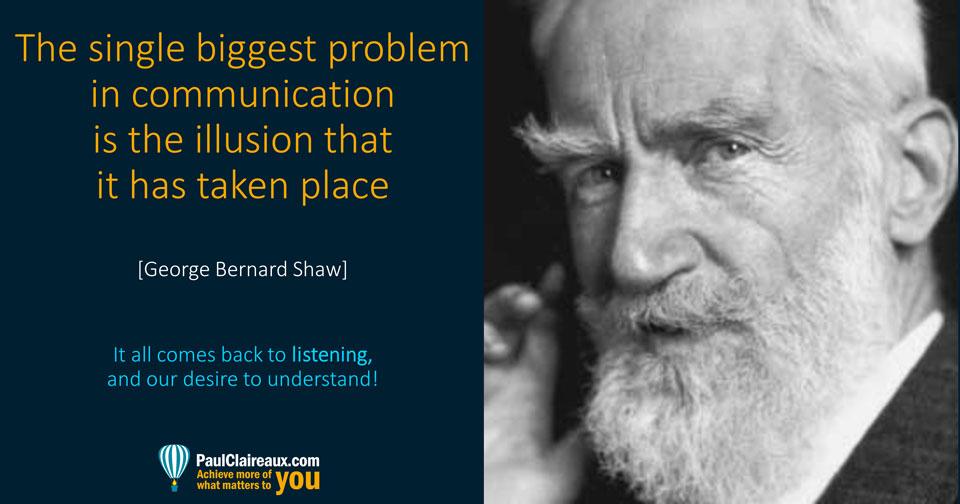 Shaw. Illusion of communication