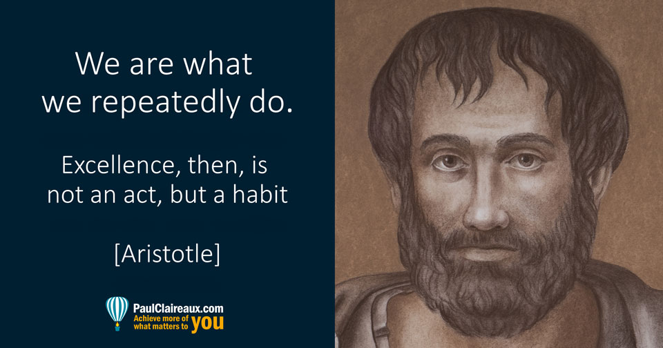 Aristotle. Excellence. Paul Claireaux