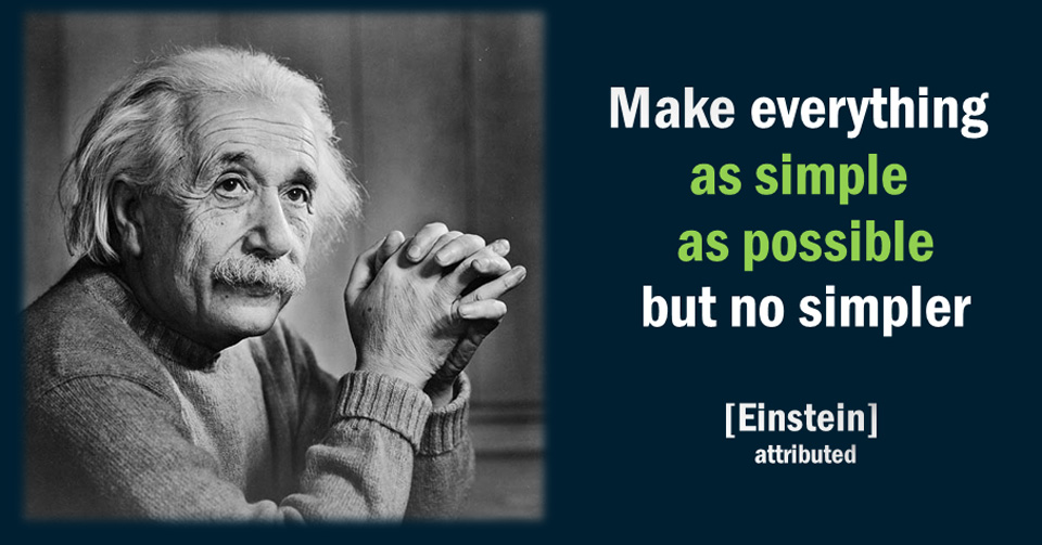 Einstein simple as possible
