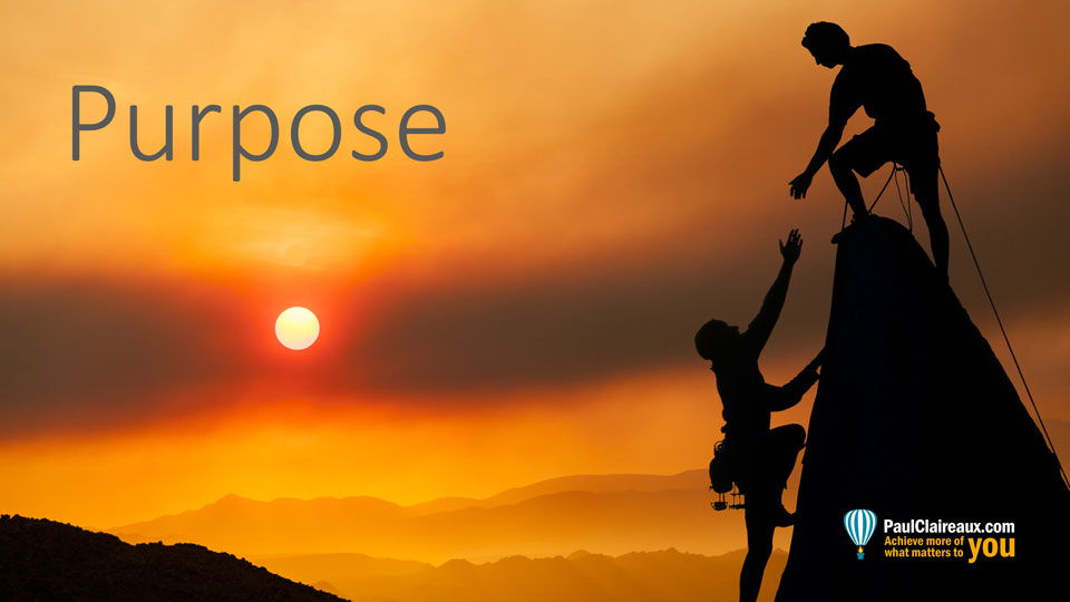 Purpose. Paul Claireaux