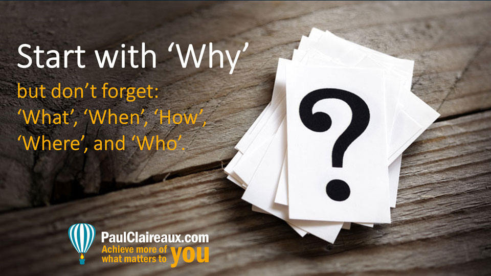 Start with why but...