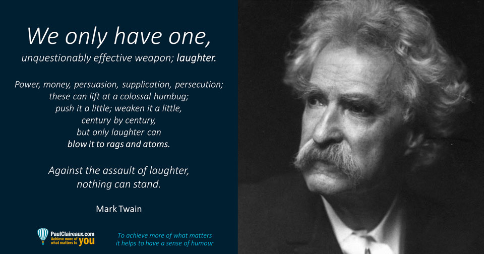 Twain on laughter. Paul Claireaux