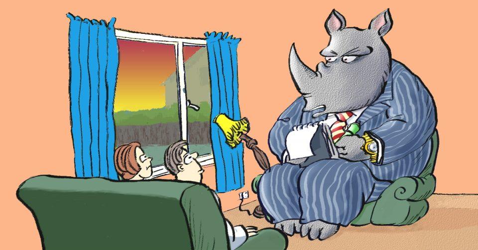 The overcharging Rhino
