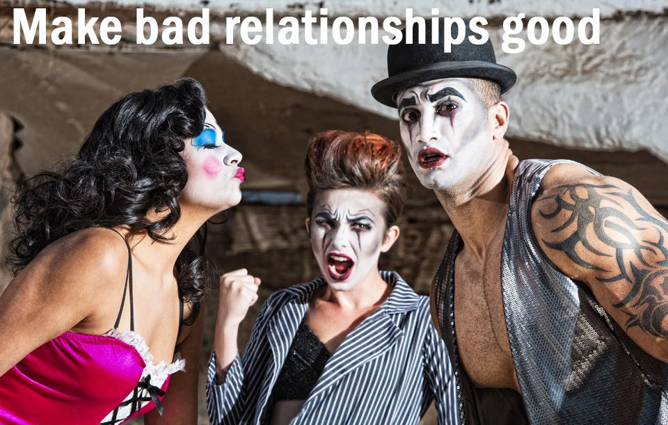 drama triangle clowns- with text
