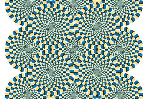 Circles optical illusion