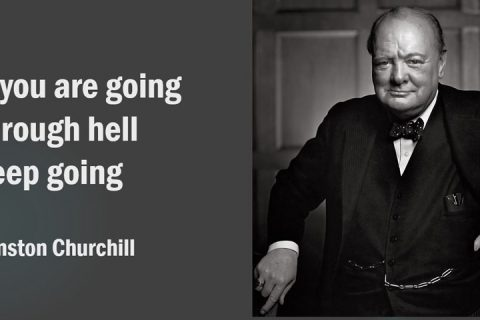 Churchill. Through Hell.