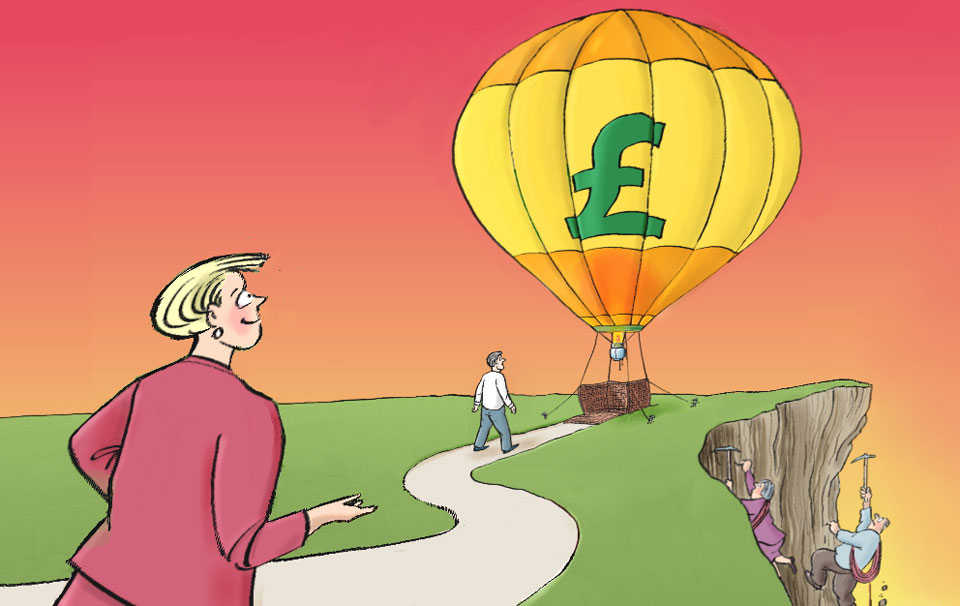 Two roads to a pension