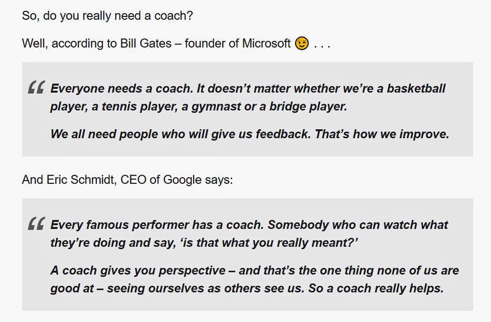 Gates & Schmidt. Do you need a coach