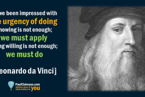 Urgency of doing. DaVinci