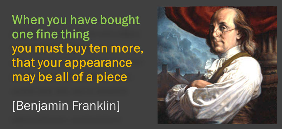 Franklin on appearance