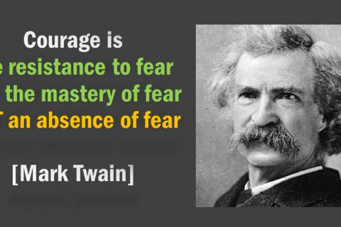 Mark Twain on Fear