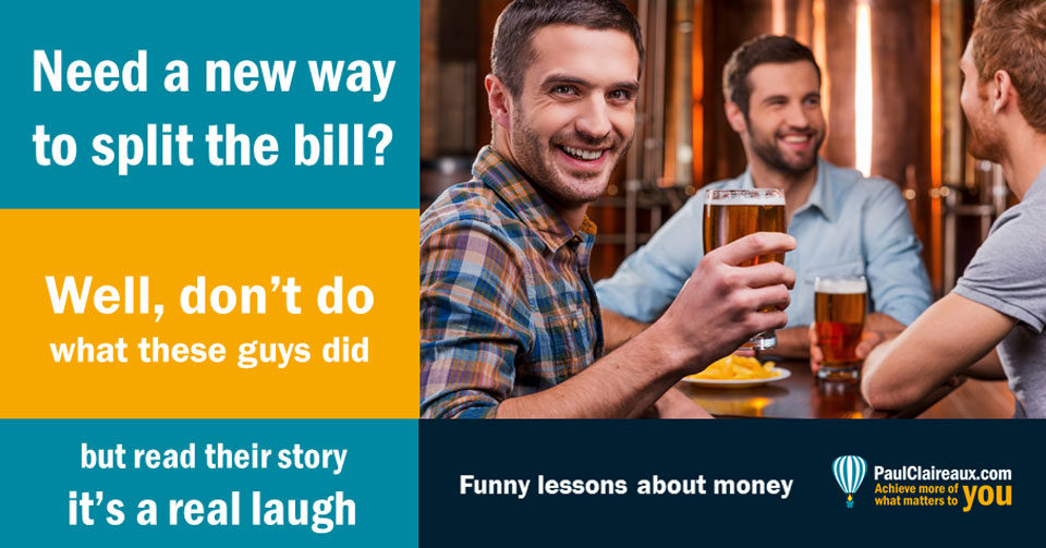 split the bar bill