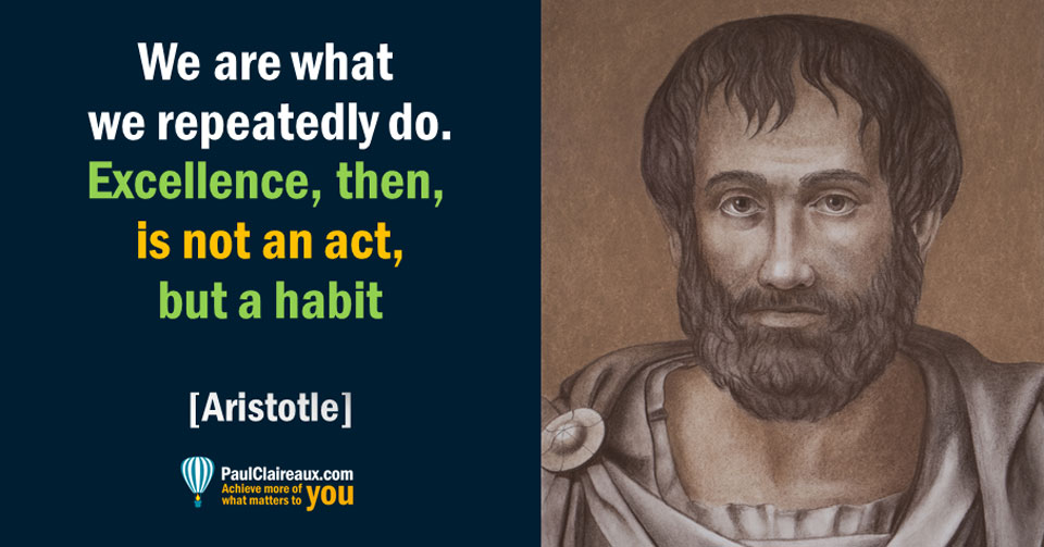 Aristotle, excellence
